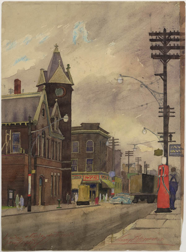 Dundas and Keele Sts., Toronto, showing West Toronto Junction Town Hall (now demolished)