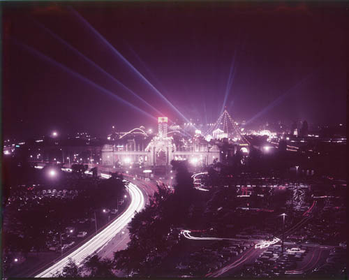 Night view of the Canadian National Exhibition (CNE)