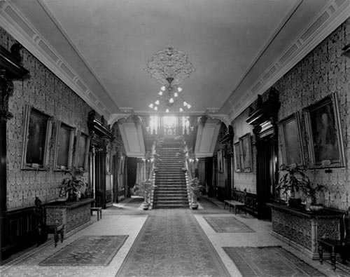 The entrance hall on the ground floor, Government House