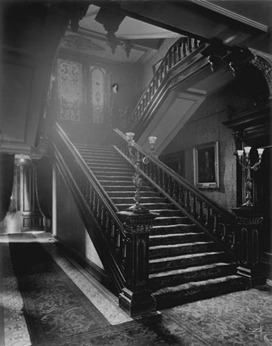 Main staircase at the west end, Government House
