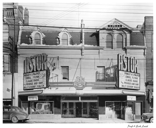Marquee and exterior of Astor Theatre, Toronto