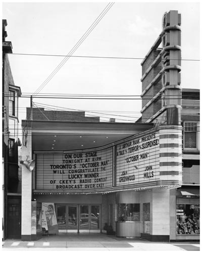 Marquee and sign of Odeon Danforth Theatre, Toronto