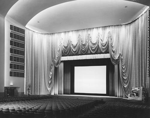Auditorium and stage in Odeon Carlton Theatre, Toronto