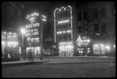 View of the Crystal Palace on Yonge Street opposite Temperance Street, Toronto