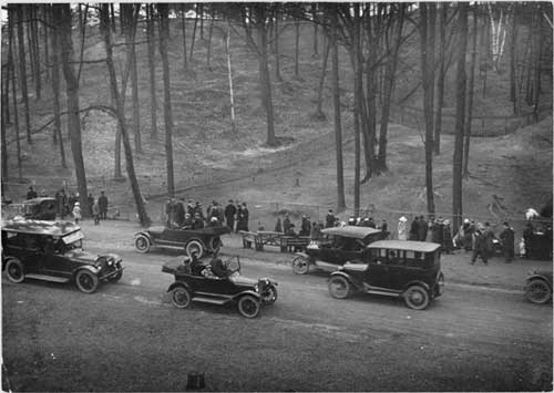 The High Park Zoo is a favourite stopping place for motor parties, especially if there are any kiddies along. The roadway any afternoon is lined with high class cars as well as tin lizzies.