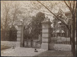 Historic photo from 1890 - Homewood entrance gate, in Moss Park (Sherbourne and Bloor), Toronto in Upper Jarvis