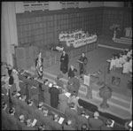 Historic photo from 1941 - Depositing the RCAF colours in Timothy Eaton Memorial Church in Forest Hill