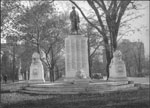 Historic photo from 1924 - Monument to the Toronto District Sons of England who died in World War I, looking south at Elm in University Avenue