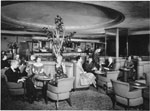 Historic photo from 1954 - Princess Lounge in the Royal York Hotel in Financial District