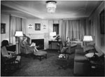 Historic photo from 1954 - People sitting in Suite 1071, Royal York Hotel in Financial District