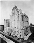 Historic photo from 1925 - Aerial view of the Royal York Hotel in Financial District
