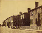 Historic photo from 1867 - Upper Canada College (UCC) buildings that stood on King St. West in King Street West