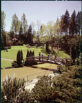 Historic photo from 1959 - Bridge in Edwards Gardens, Toronto in Edward Gardens