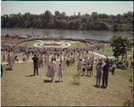 Historic photo from 1959 - Gathering near the Maple Leaf circle - High Park, Toronto in High Park