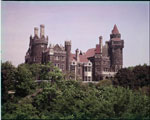 Historic photo from 1960 - Casa Loma on the hill, in colour in Casa Loma