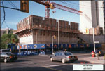 Historic photo from Wednesday, May 25, 1994 - Construction of the Bata Shoe Museum, north elevation - Moriyama & Teshima Architects in Huron Sussex