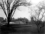 Historic photo from 1912 - Southwest view of the grounds from Wellington Street, Government House in King Street West
