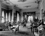 Historic photo from 1912 - Drawing room on the left side of the entrance hall, Government House in King Street West