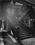 Historic photo from 1912 - Main staircase at the west end of the third Government House in King Street West