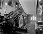Historic photo from 1912 - Main staircase, looking down hall to entrance, Government House in King Street West