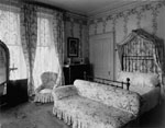 Historic photo from 1912 - Decorations in the bedroom of the Lieutenant-Governor, northeast corner of upper hall, Government House in King Street West