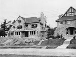 Historic photo from 1912 - Construction of homes on the south-east corner of Lympstone Ave and St. Edmunds Drive in Lawrence park