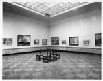 Historic photo from 1920 - Natural light and Canadian paintings at the Art Gallery of Toronto in Art Gallery of Ontario