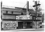 Historic photo from 1947 - Duchess Theatre (the Centre Theatre at the time) marquee and exterior in Little Italy (College St)