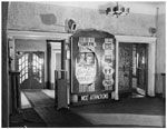 Historic photo from Monday, October 27, 1947 - La Plaza Theatre foyer - now The Opera House (was also informally known as the Acropolis) in Riverside-South Riverdale