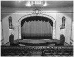 Historic photo from Monday, October 27, 1947 - La Plaza Theatre - view of screen from balcony - 735 Queen Street E in Riverside-South Riverdale