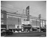 Historic photo from Monday, November 17, 1947 - Palace Theatre - marquee and sign - northeast corner of Danforth Avenue and Pape Avenue in The Danforth