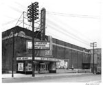 Historic photo from Friday, October 31, 1947 - Parkdale Theatre - marquee and sign on exterior - 1605 Queen Street W in Parkdale