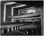 Historic photo from Friday, November 5, 1948 - University Theatre - auditorium and balcony in Yorkville