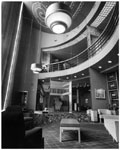 Historic photo from Friday, November 5, 1948 - University Theatre on Bloor Street - sitting area and balcony in Yorkville