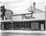 Historic photo from 1949 - Park Theatre - marquee and exterior - 3291 Yonge Street - originally the Bedford in Bedford Park