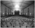Historic photo from 1949 - Park Theatre, when it was the Bedford Theatre - auditorium - standee to stage in Bedford Park