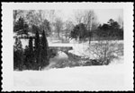 Historic photo from 1959 - Winter scene showing the bridge in front of Chorley Park in Don Valley Brickworks