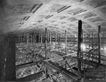 Historic photo from Friday, April 4, 1919 - Interior roof construction of Union Station, Toronto in Financial District