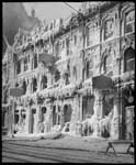 Historic photo from 1898 - Ice covers the facade of Gowans Kent China shop the day after the fire in St. Lawrence