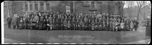 Historic photo from Saturday, April 24, 1926 - Baptist Bible Union First Annual Convention, Jarvis Street Baptist Church in Garden District