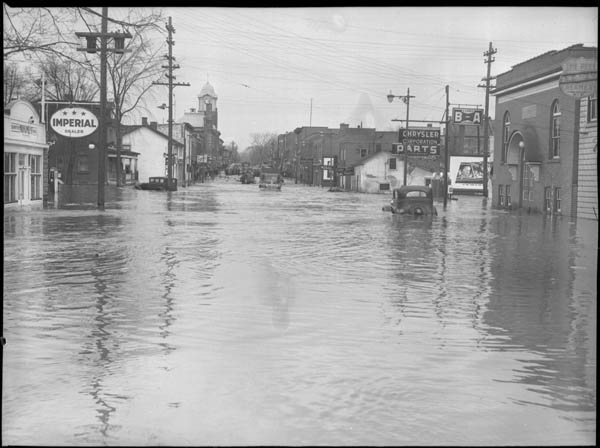 Flood scene, Brampton