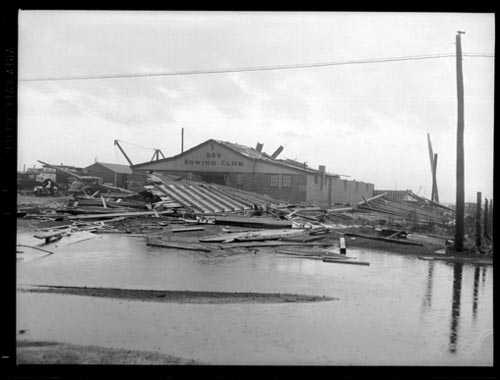 Storm damage at the Don Rowing Club