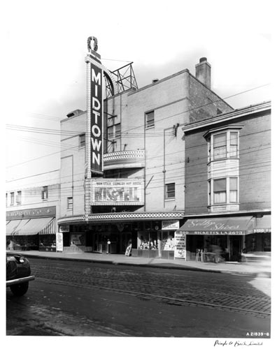Exterior of Midtown Theatre, and street, Toronto