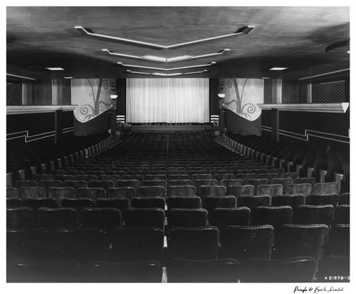 Auditorium and screen in Capril Theatre (Midtown), Toronto