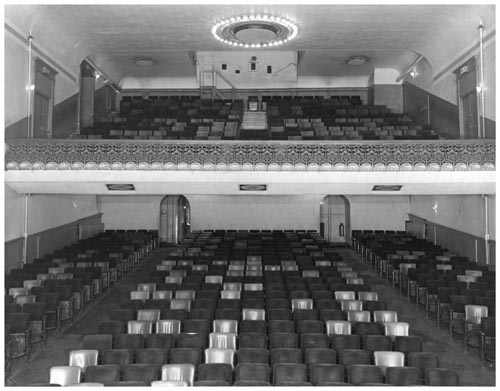 Auditorium and balcony in La Plaza Theatre, Toronto