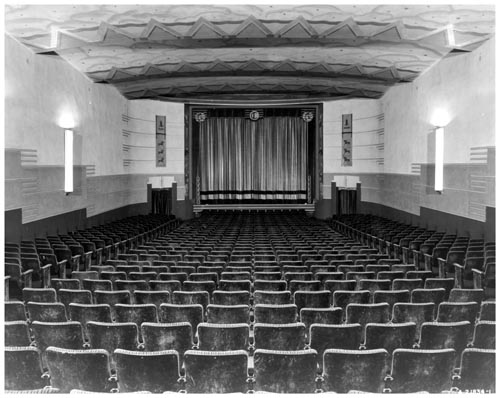 Auditorium and screen in Circle Theatre, Toronto