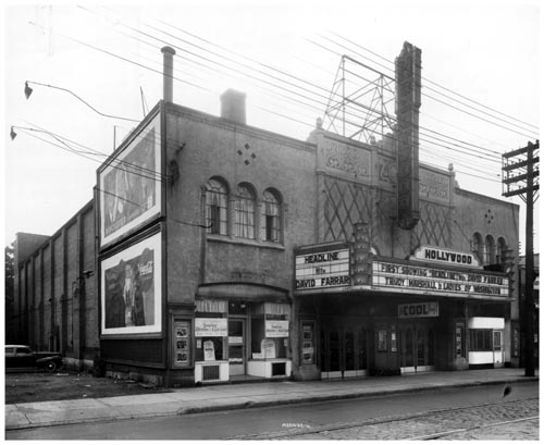 Marquee and exterior of Hollywood Theatre, Toronto