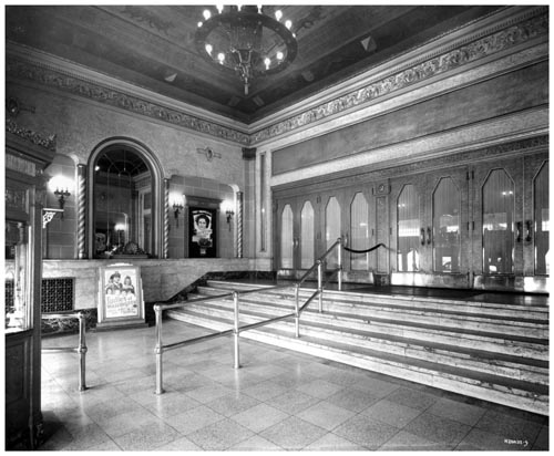 Lobby and entrance to the auditorium at the Hollywood Theatre, Toronto