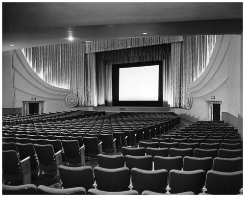 Auditorium and screen of Odeon Danforth Theatre, Toronto