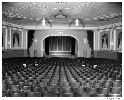 Auditorium, facing screen, in Parkdale Theatre, Toronto
